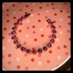 🌺Swarvoski Ice Crystal Bracelet - Fuchsia🌺